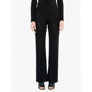 American Apparel Ashbury Black Ribbed Flare Pants